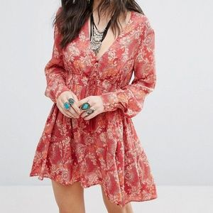 NWT Free People Stealing Fire Dress S